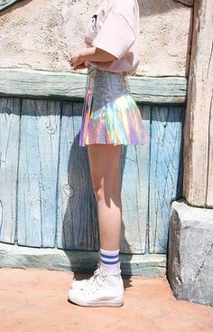 Pin by Sophie Potter on Style Inspiration - Kawaii K Fashion, Pastel Fashion, Kawaii Fashion, Cute Fashion, Asian Fashion, Mode Renaissance, Harajuku, Holographic Fashion, Pastel Grunge