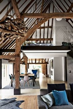 Barn Conversion Mezzanine - The saving grace of many a small space, mezzanines are unquestionably fun - mezzanine ideas on HOUSE by House & Garden