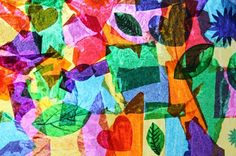 Filth Wizardry: Tissue paper and glue window collage