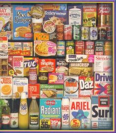 Groceries Most of these were stocked in my parent's village store, oh the memories. Retro Advertising, Vintage Advertisements, Vintage Ads, Retro Ads, 1970s Childhood, My Childhood Memories, Vintage Packaging, Old Ads, Consumerism