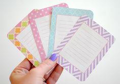 Free printable journaling cards!