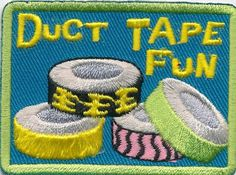 Girl Boy Cub Duct Tape Fun Crafts Projects Patches Crests Badges Scouts Guide | eBay