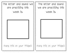I sent home something like this in our homework packets for our students, but I typed it. I like this form because the students can write them in the boxes. Perhaps, since they haven't learned them fully, give them the chance to trace them?