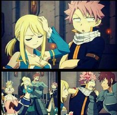 It seems like Natsu is being protective of Lucy, I wonder why?  (Nalu)