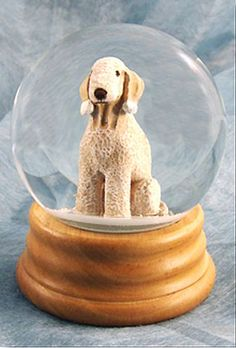Bedlington Terrier Dog Musical Water Snow Globe Liver - You've Got a Friend Tune $99.99 at DogLoverStore.com
