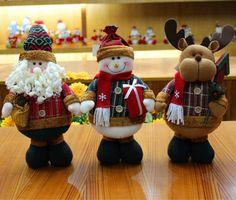 Christmas Snowman Santa Reindeer Standing Dolls Festival Gifts Home Decoration