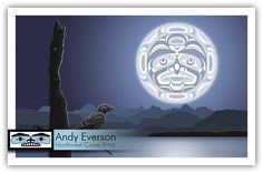 Confessions to the Moon Andy Everson, Northwest Coast Artist Arte Haida, Haida Art, Native American Artwork, Beautiful Moon, Moon Art, Aboriginal Art, Native Art, Print Artist, First Nations
