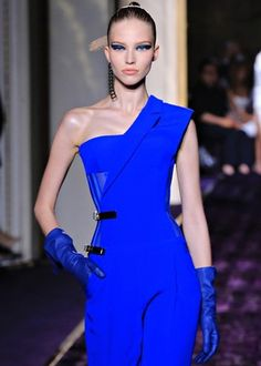 Electric blue gown from the new Versace collection