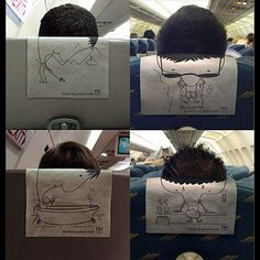Creative Ads On Airplanes.