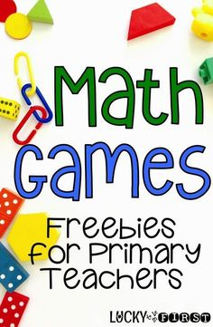 Math Games - Freebies for Primary Teachers                                                                                                                                                                                 More