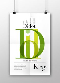 Typographic poster for the typeface Didot. Typo Poster, Poster Fonts, Typographic Poster, Creative Typography, Typography Fonts, Graphic Design Typography, Modern Typography, Typography Inspiration, Graphic Design Inspiration