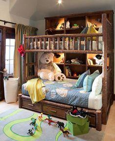 Interior Designed Rustic Bunk Rooms We Love Teen Girl Bedrooms, Teen Bedroom, Bedroom Decor, Rustic Master Bedroom, Rustic Bedrooms, Bunk Rooms, Custom Furniture, Furniture Ideas, Mountain Living