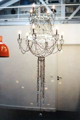 marie christophe....wire chandelier
