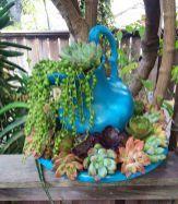 Idéias surpreendentes de Decoração de jardim de Succulents Diy 5