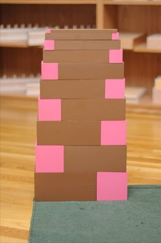 Pink Tower and Brown Staircase Extensions (Part Frases Montessori, Maria Montessori, Montessori Practical Life, Just Do It, Extensions, Stairs, Teaching, Activities, Brown