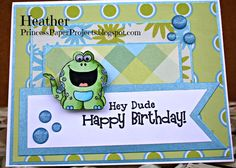 A cute little critter birthday card using Your Next Stamp.