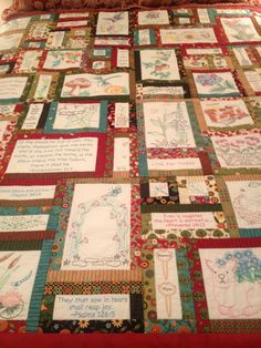 This is the Prayer Garden quilt designed by Anita Goodesign and is embroidered with machine embroidery.  I am working on a Spring version and will upload some pictures of it from time to time.