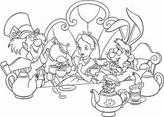 Images For Alice In Wonderland Coloring Pages Caterpillar