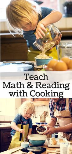 Take cooking with kids to a new level by teaching math and reading through picture recipes. You'll love cooking with kids as much as they do.