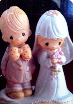 Precious Moments Bride/Groom figurine in Hayes_House's Garage Sale in Oklahoma City , OK for $20.00. Precious Moments Bride/Groom figurine used as a wedding topper. In excellent condition. Collector's item.