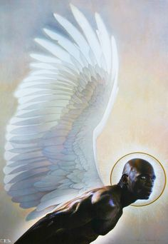 Black Art Depot Today - Page 5 of 50 - Your Source for News About African American Art Male Angels, Black Angels, African American Artist, African Art, Fantasy Kunst, Fantasy Art, Black Art, Thomas Blackshear, Arte Fashion