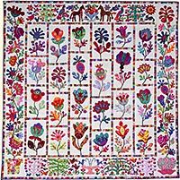 "Flower Garden from Glorious Color - quilt fabric and kits from ""Museum Quilts"", ""Passionate Patchwork"", and ""Kaleidoscope of Quilts"" by Kaffe Fassett & Liza Lucy Applique Patterns, Applique Quilts, Quilt Patterns, Flower Applique, Pattern Flower, Motifs D'appliques, Flower Quilts, Quilt Kits, Pattern Paper"