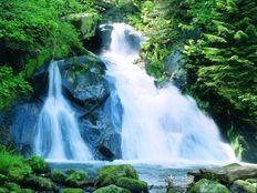 Triberg i. Schwarzwald- Deutschlands höchste Wasserfälle