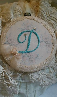 Shabby chic monogram plaques with initials plaques by TheChicPatch