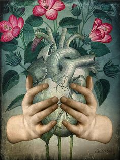 "• ""A Green Heart"" by Catrin Welz-Stein - Catrin Arno Society6 (Curated by Mar Cantón)"