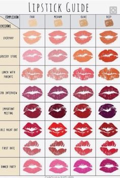 Make Up Guide: Lipstick Palette for Every Occasion - makeup & beauty - Makeup Best Makeup Tutorials, Best Makeup Products, Face Products, Beauty Products, Make Up Tutorials, Beauty Regimen, Beauty Tutorials, Make Up Guide, How To Make