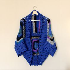 Crochet cardigan blue cardigan handmade cardigan by LoveandKnit
