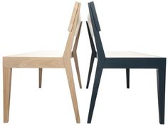 Buy Cubo Blue Bench with Wooden Seat online by Another Brand from Furntastic at unbeatable price. Bar Furniture, Wishbone Chair, Foot Rest, Dining Chairs, Stool, Kitchens, Bench, Interior, Blue