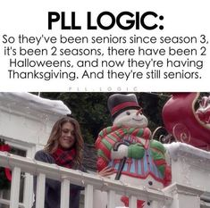 Most popular tags for this image include pll logic lucy hale pretty Pll Logic, Logic Memes, Pll Memes, Funny Memes, Pretty Little Liars Meme, Preety Little Liars, Pll Quotes, Thanksgiving, Best Shows Ever