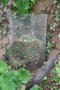 DIY compost maker, Make Your Own Compost Holder, #frugal gardening