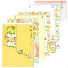 "San-X Sumikko Gurashi ""Things in the Corner"" Memo Pad with Stickers: Corner Stack"