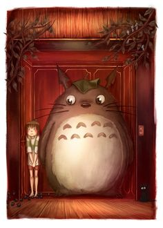 Totoro in Spirited Away by NadiaDibaj on DeviantArt