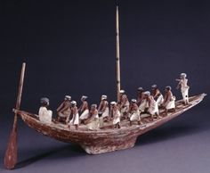Painted wooden model boat with plinth; sixteen figures(some lacking arms). Ancient Egypt Civilization, Ancient Egyptian Artifacts, Ancient Greek, Ancient History, Egyptian Models, Ptolemaic Dynasty, Sea Peoples, Grand Palais, Louvre