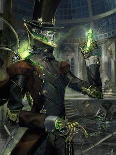 Steampunk Lich, Travis Anderson, ArtStation #char #monster #robot #steampunk #magic