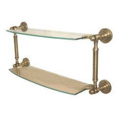 "Allied Brass Dottingham Bathroom Shelf Size: 28"", Finish: Polished Nickel"