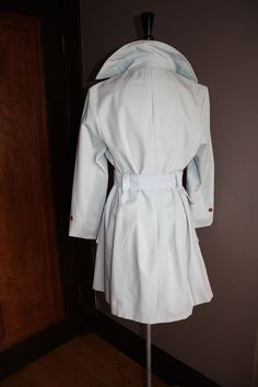 60s  Powder Blue Peacoat  S / M by nichestyle on Etsy, $79.99