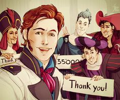 "Selfiefable Special edition to say ""THANK YOU"" for 35.000like on my Facebook page of illustrations! ^_^"