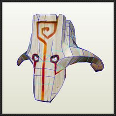 DotA 2 - Juggernaut's Mask Papercraft Free Download - http://www.papercraftsquare.com/dota-2-juggernauts-mask-papercraft-free-download.html