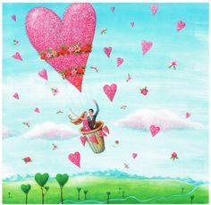 Square card folded by Mila Marquis by MarquisWonderland on Etsy Art Et Illustration, Illustrations, Pintura Graffiti, Lulu Shop, Art Fantaisiste, Happy Anniversary Wishes, Art Carte, Square Card, Heart Art