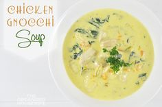 A family friendly Chicken Gnocchi Soup recipe that will warm the body, soothe the soul, and chase away any pesky winter germs. Cheap Clean Eating, Clean Eating Snacks, Soup Recipes, Healthy Recipes, Seafood Recipes, Chicken Gnocchi Soup, How To Cook Chicken, Food Print, Meal Planning