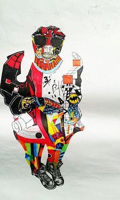 Unfinished self potrait in different styles. Surrealism Pop Art Constructivism  Cubism Realism Dadaism