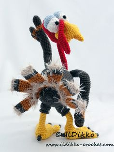 Theo the Turkey amigurumi pattern - Amigurumipatterns.net