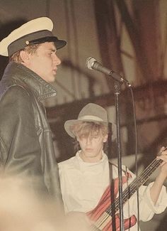 John Taylor  Simon Lebon back in the day... Duran Duran