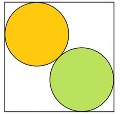 Simple sangaku - two circles in a square