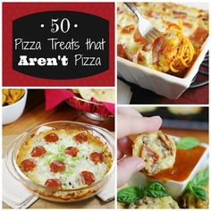50 Amazing Pizza Treats that Are Not Pizza!  |  www.thekitchenismyplayground.com  |  #pizza