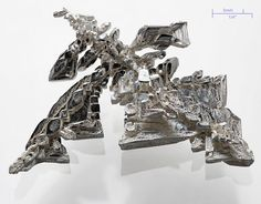 How To Grow Silver Crystals: This is a photo of a crystal of pure silver metal, deposited electrolytically. Note the dendrites of the crystals. Book Of Shadows, Rocks And Minerals, Healing Stones, Body Jewelry, Jewellery, Stones And Crystals, Diy Crystals, Egypt, Photo Galleries